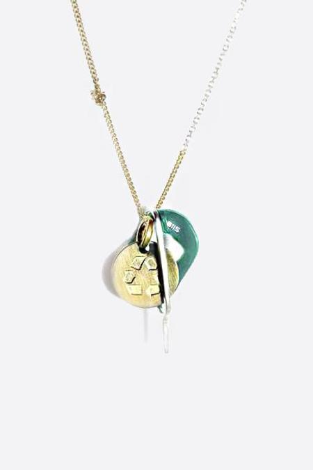 Biis Combo Litter Mixed Chain Necklace