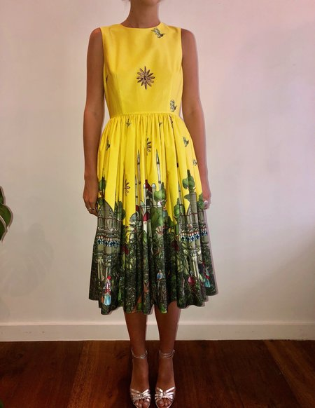 Roi du Lac Aghia Sophia Short Dress - Yellow