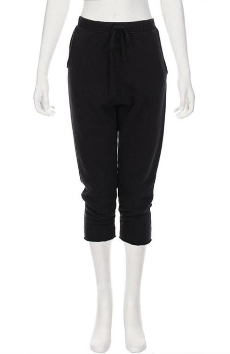 TEE LAB by FRANK & EILEEN Cropped Sweatpants - BLACKOUT