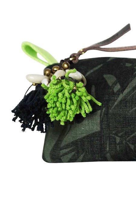 JADEtribe Aloha Neon Zip Small Cosmetic Case - Leaf/Lime