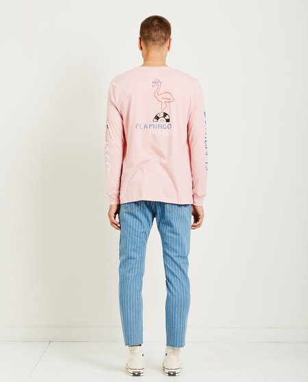 Barney Cools FLAMINGO DISCO LONG SLEEVE TEE - PINK