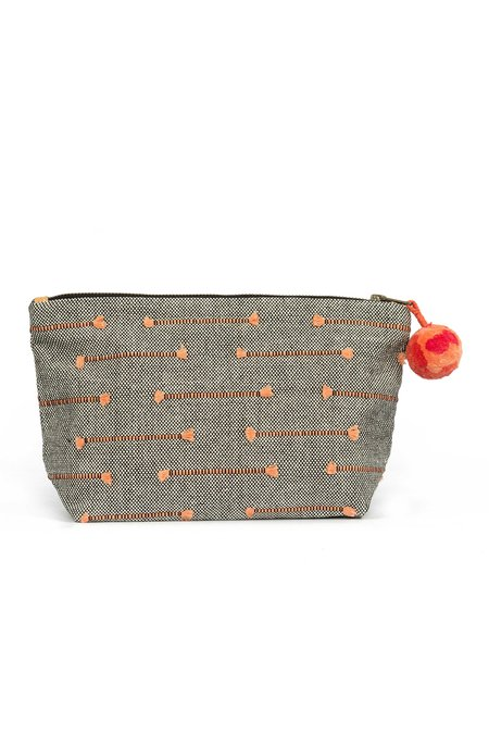 Mercado Global Fringe Cristina Cosmetic Pouch - Coral