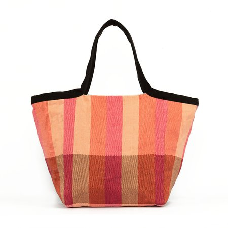 Mercado Global Twill Rosa Tote - Coral