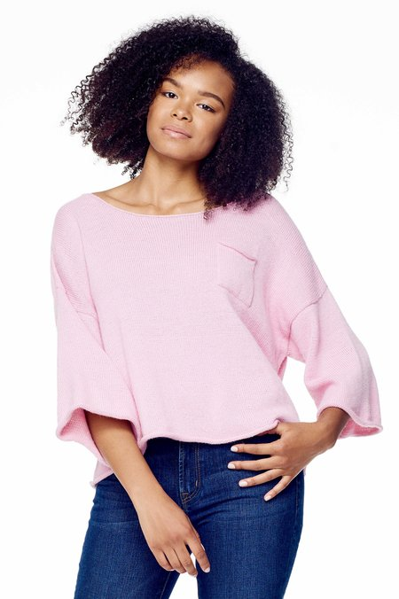Proud Mary Knit Huipile Top - Orchid