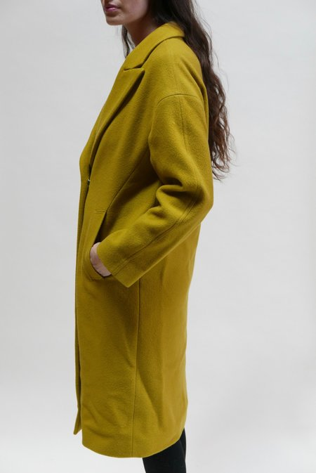 Tela Agnellato Wool Coat - Citron