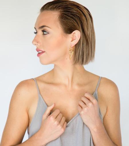Nina Berenato Jewelry Carna Earrings - GOLD
