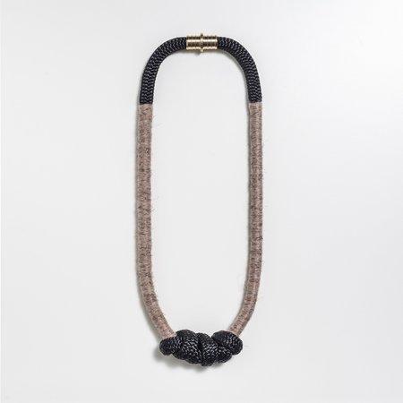 Mweya Chiswe Necklace - Black/Rose