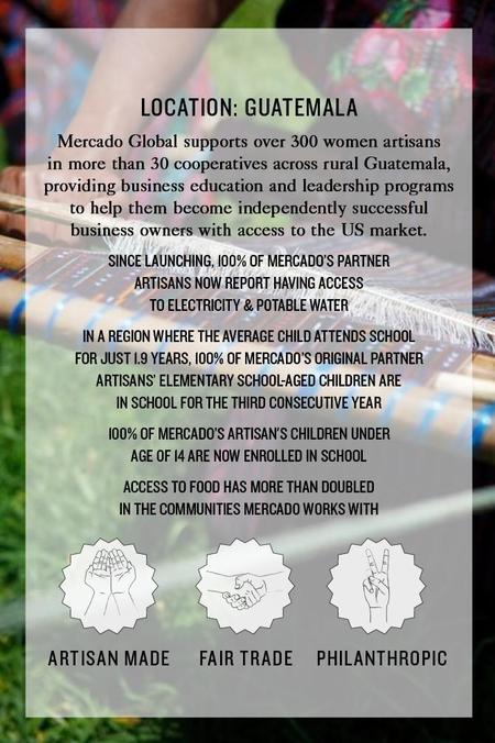 Mercado Global Rosa Tote - Seaside Stripe
