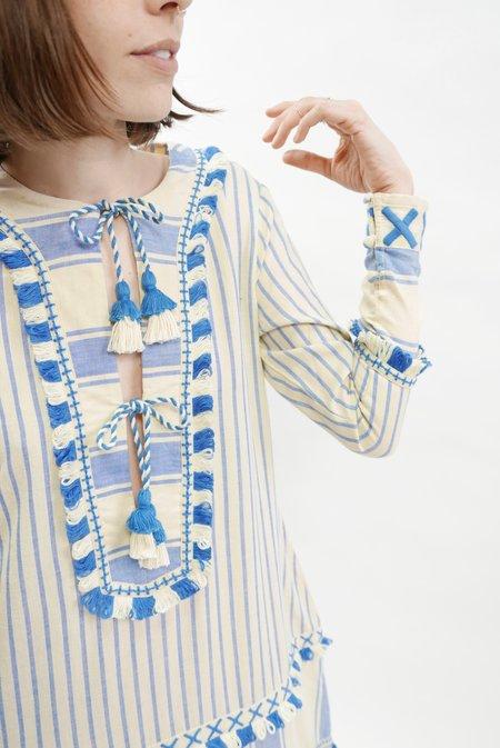 Dodo Bar Or Samuel Dress - Blue/Cream
