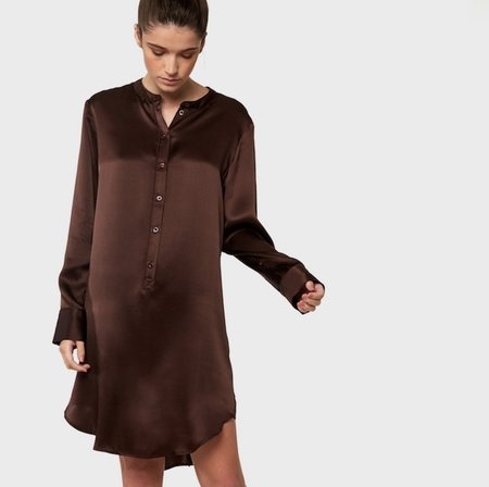 Laing Home Silk Nightshirt - Raisin