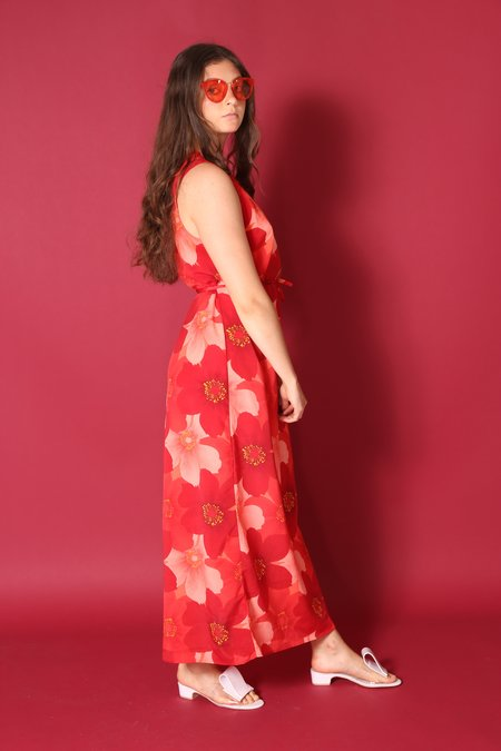 """""""INTENTIONALLY __________."""" ARCHIVE 1249 MAXI DRESS - PRINTED FLORAL"""