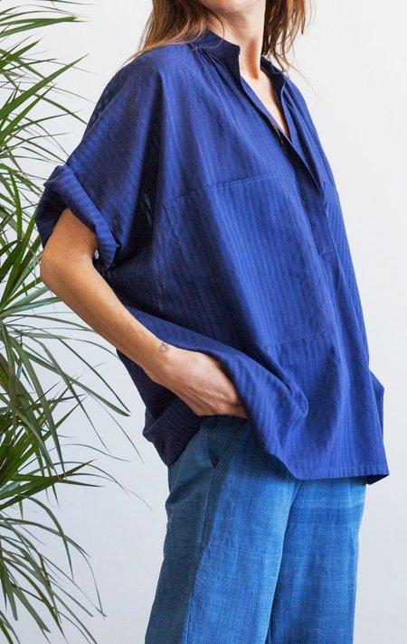 Two Two Pocket Shirt - Blue Khadi