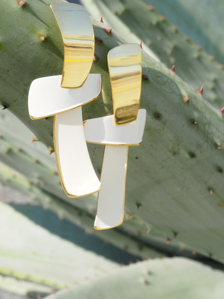 Lizzie Fortunato Ernesto Earrings - Wheat