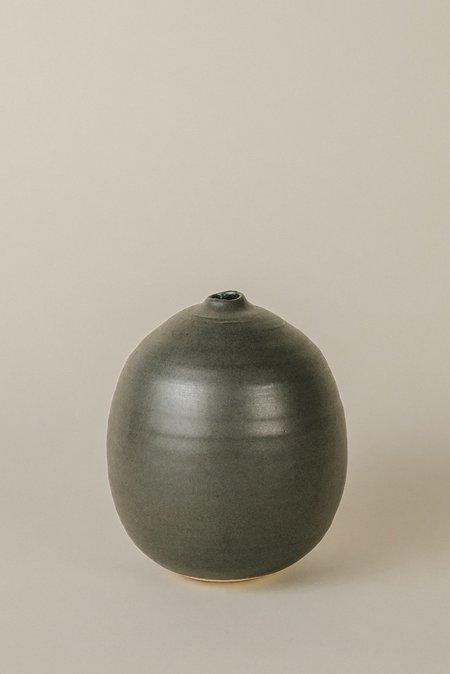 Judy Jackson Ceramic Round Vase - Black