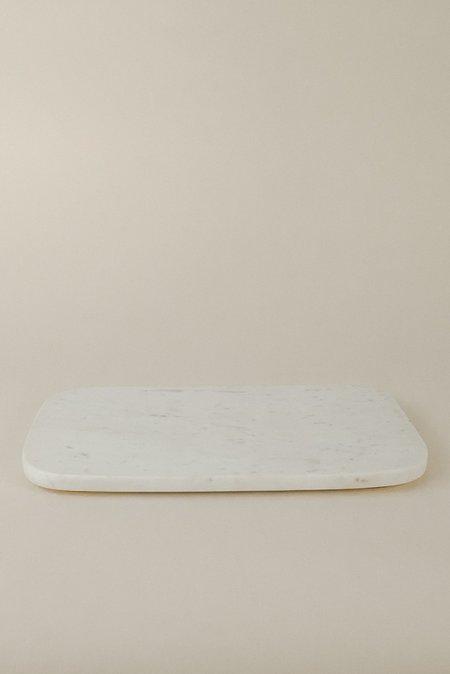 Hawkins New York Small Serving Board - Marble/Brass