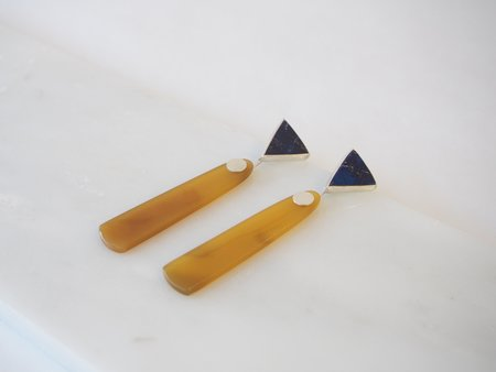 Octave Jewelry Stone Drops - Lapis/Agate
