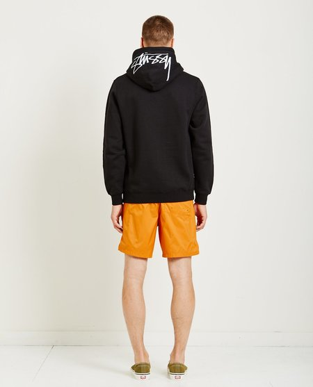 STUSSY INC. SMOOTH STOCK APPLIQUE HOODIE - black