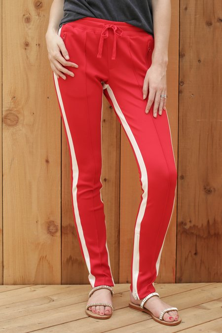 Pam & Gela Low Rise Cigarette Track Pant - Lipstick Red