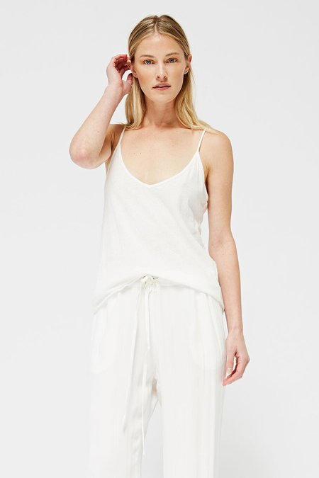 Lacausa Clothing Jersey Cami - Whitewash