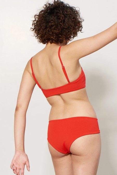 Mara Hoffman Nora Bikini Bottom - Red