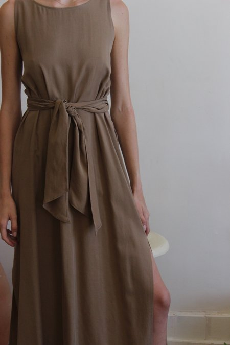 Shaina Mote Tie Dress - Mushroom