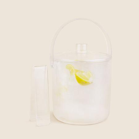 Vintage Lucite Acrylic Ice Bucket Set