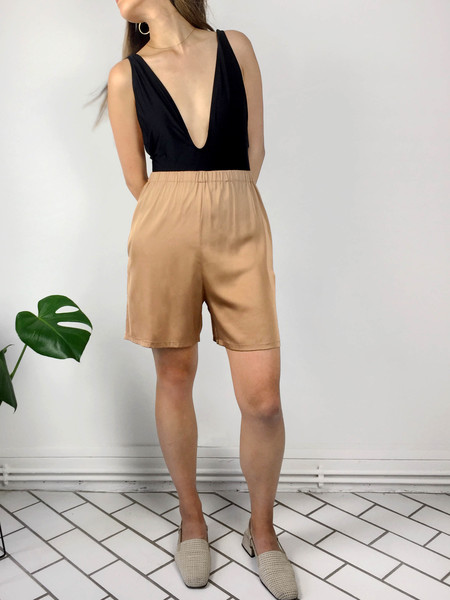 Index Series Hester Midi Silk Shorts - Rose