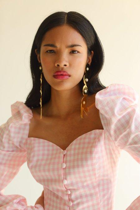 NIKA TANG Raina Top - Light Pink Gingham