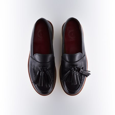 Grenson Clara Tasseled Loafer - Black
