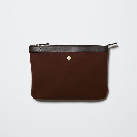 UNISEX Mismo M/S Pouch - Rust/Dark Brown