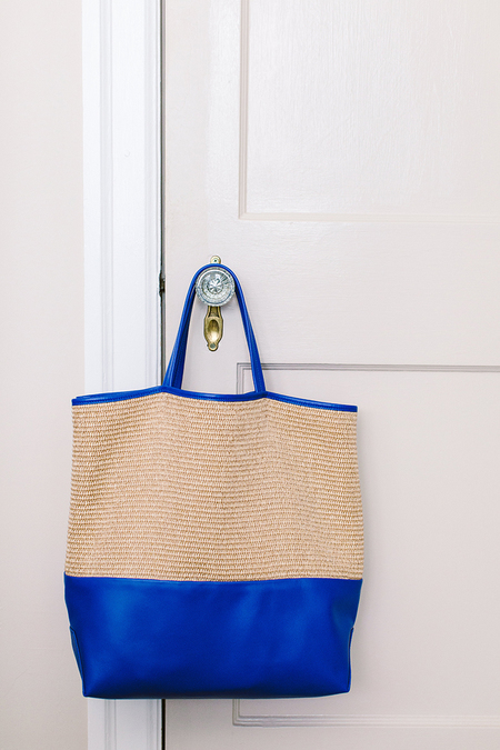 Alice D. Raffia + Blue Leather