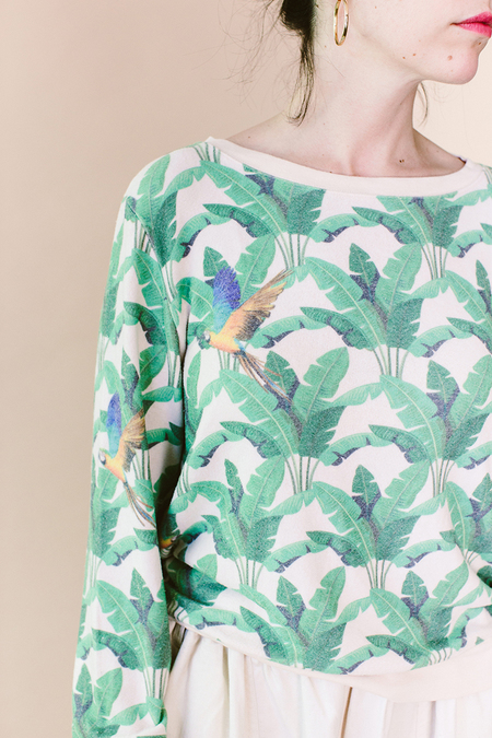 ATF Birds of Paradise Sweatshirt - birds of paradise/ palm print