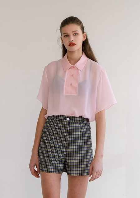 ROCKET X LUNCH WIDE FRONT CHIFFON TOP - PINK