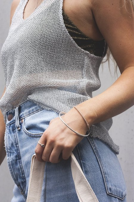 Stolen Girlfriends Club Chainmail Tank Top - Silver