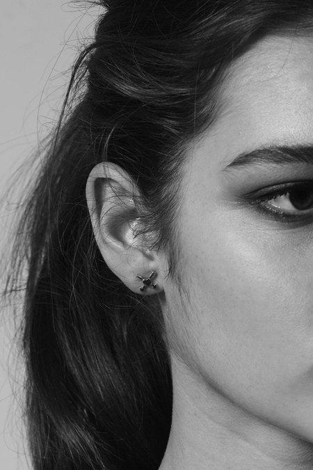 Meadowlark Heart & Arrow Stud Earrings - Silver