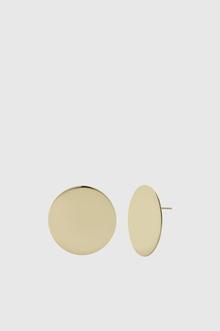 Meadowlark Medium Moon Earrings - Gold Plated