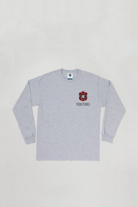 Moreporks MP-002-SC1 Long sleeve Ski printed T-shirt - Grey