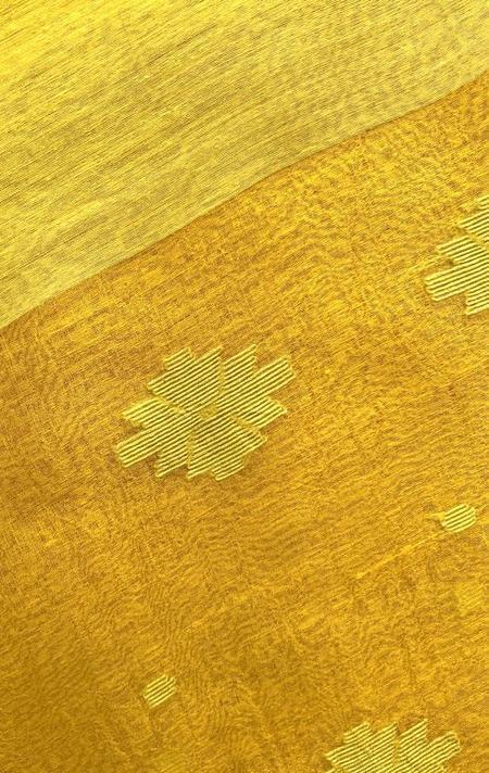 Two Caftan - Yellow/Jamdani Stripe
