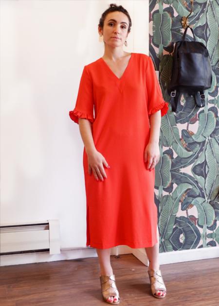 Ganni Clark Dress - big red apple