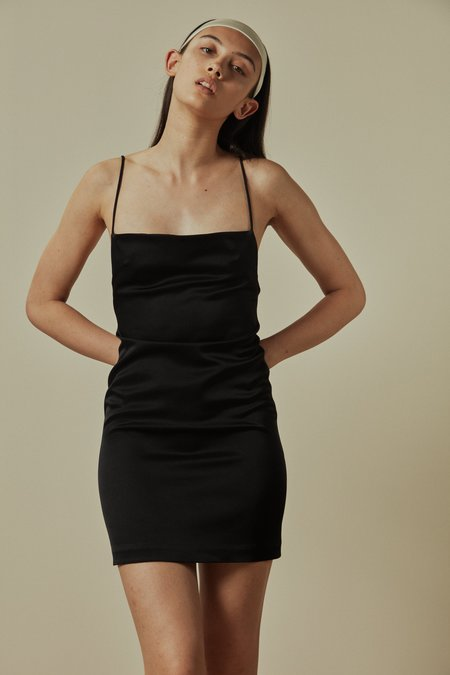 GEORGIA PARIS BLAZE SLIP DRESS - Black