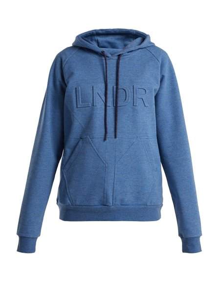 LNDR College Press Hoody Sweatshirt - blue
