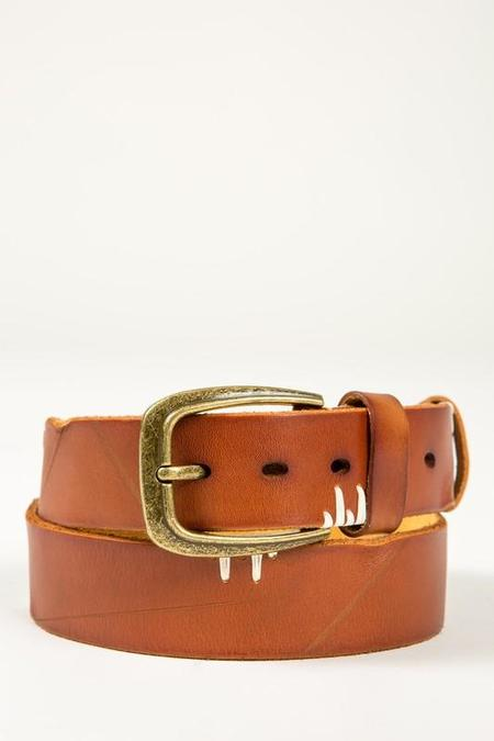 POL Southwestern Leather Belt - Camel