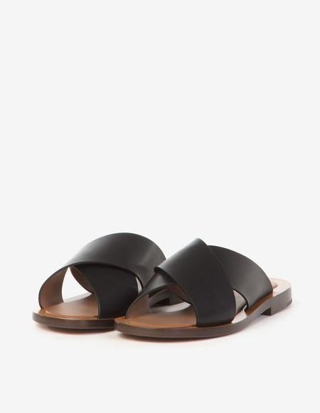 Amblême Madrague Calfskin Sandals - Black