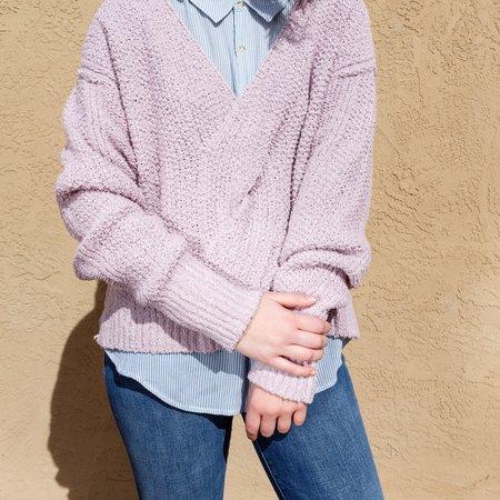 Free People Coco V-Neck Sweater - Light Purple