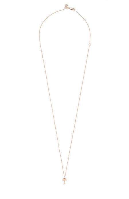 Sydney Evan 14K Tiny Palm Tree Necklace - rose gold