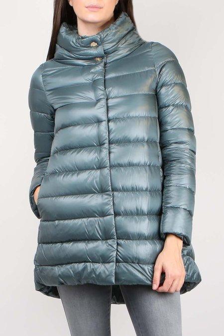 Herno Classic Nylon Hilo Coat - Slate Blue