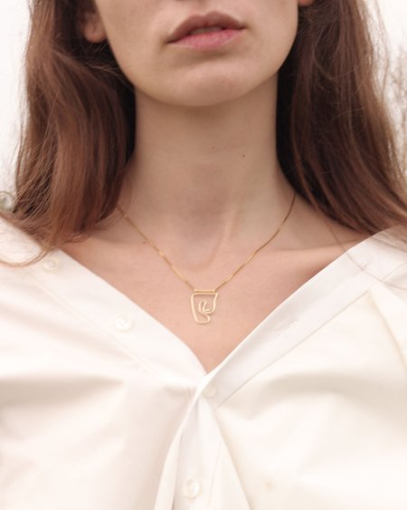 Knobbly Deconstructed Nude Necklace