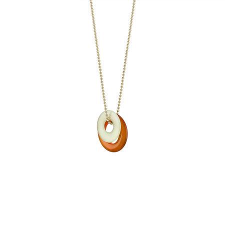 E.M. Kelly Stone Necklace - Gold