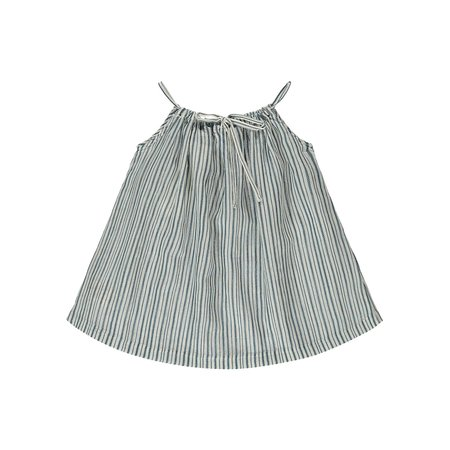 Kids Caramel Windermere Baby Dress - Striped Blue