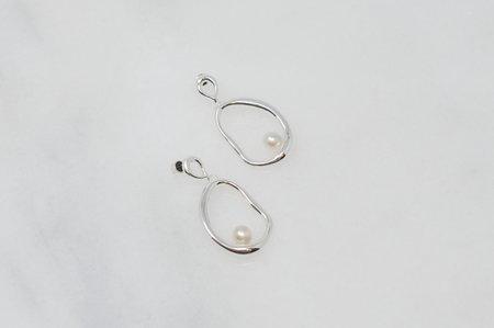 Eye M by Ileana Makri Flow Hoop Earrings